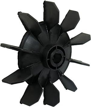 TOOGOO(R) Hoja del ventilador de motor de diez palas 14mm diametro interno plastico negro Pieza del compresor de aire: Amazon.es: Bricolaje y herramientas