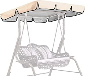 Denpetec Patio Canopy Swing Cover, Swing Replacement Porch Top Cover, Swing Chair Awning, Glider Swing Cover, Waterproof Sun Shade for Outdoor Garden Seat Furniture