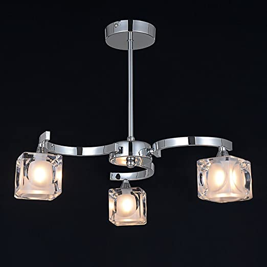 Natsen LED Light Aluminum Chandelier Glass Pendant Lights 3818Y ...