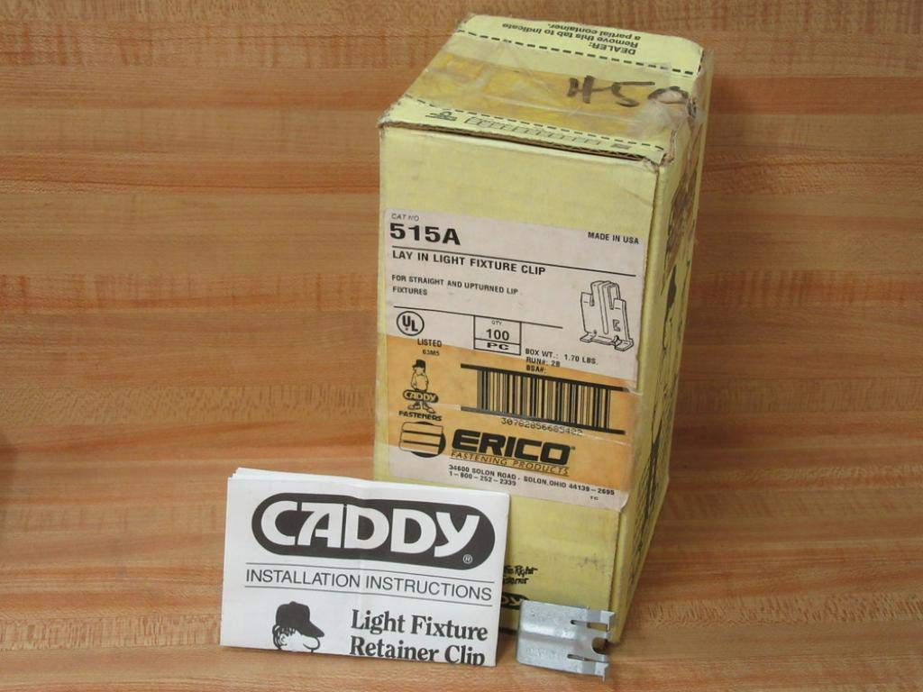 Erico Caddy 515A Lay in Light Fixture Clip (Pack of 100)