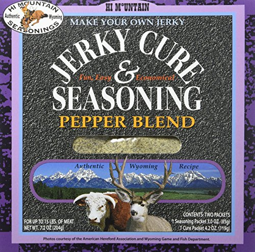 Hi Mountain Jerky Seasoning - Pepper Blend - 7.2 Ounces