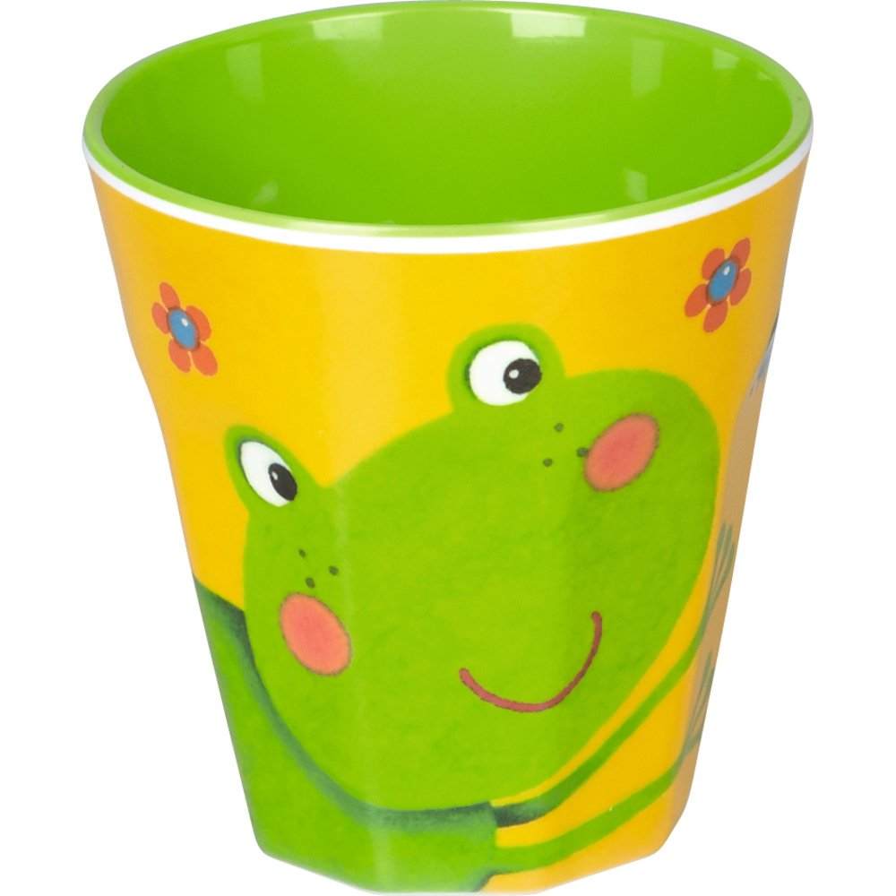 bicchiere Ranocchia per bambini in melamina. Spiegelburg 14250
