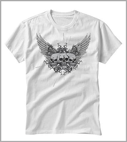 Roly Camiseta uomo-Donna Calaveras alas, Unisex Adulto, Bianco ...