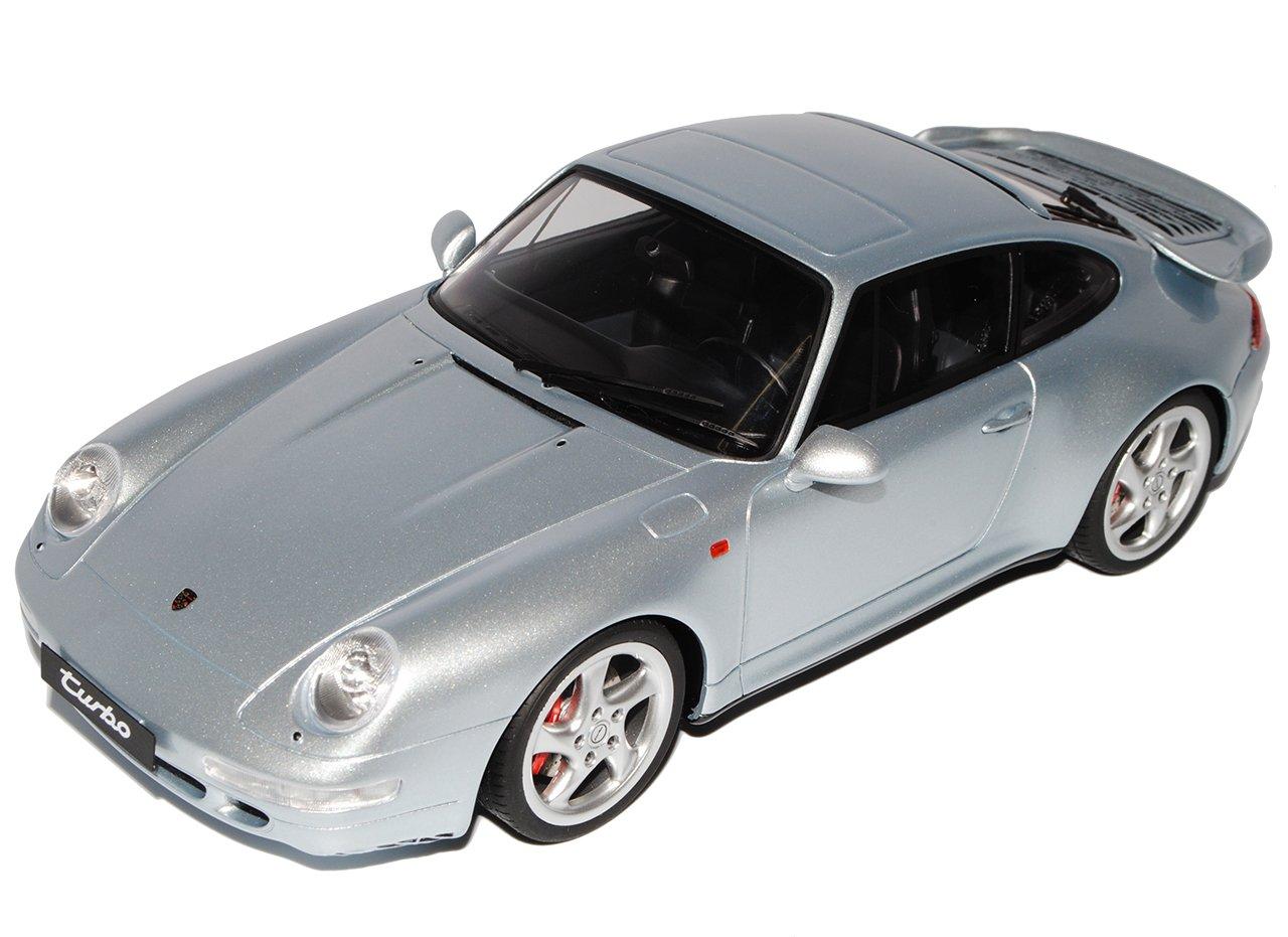 GT Spirit Porsche 911 993 Turbo Coupe Silber 1993-1998 ZM026 1 18 Modell Auto  Mit Wunschkennzeichen