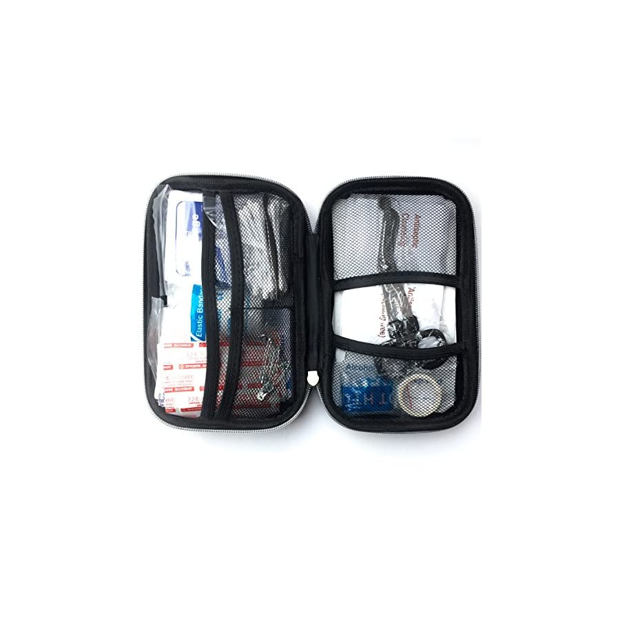 The Man First Aid Kit 106 Piece First Aid Items In A Tough, Camo Weatherproof Zipper Case