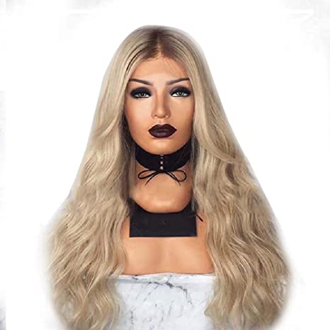 Amazon.com   Blonde Wig Fancy Dress Women s Long Curly Wavy Synthetic Wig  Cosplay Party   Sports   Outdoors f3a9410f35