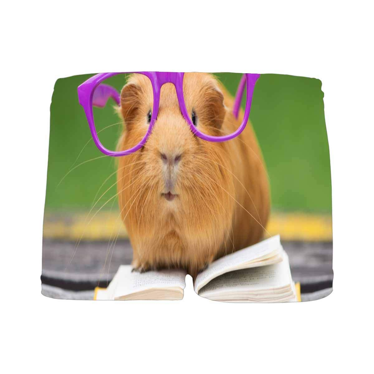 INTERESTPRINT Kids Funny Guinea Pig in Glasses Reading a Book Outdoors Boxer Briefs M