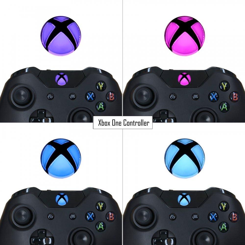 Amazon.com: eXtremeRate - Juego de pegatinas LED para Xbox ...