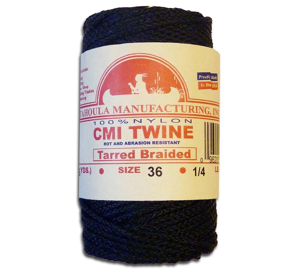Catahoula #36 Tarred Braided Nylon Twine (Bank Line) 320 lb Tensile Strength Catahoula Manufacturing Inc.