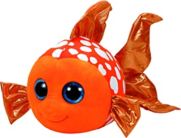 Ty - Beanie Boos Sami, pez, 23 cm, Color Naranja (United Labels