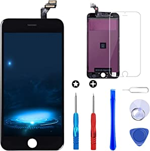 Brinonac Screen Replacement for iPhone 6 4.7 inch LCD Digitizer Touch Screen LCD Replacement Screen Frame Assembly Full Set with Tools and Screen Protector (Black)