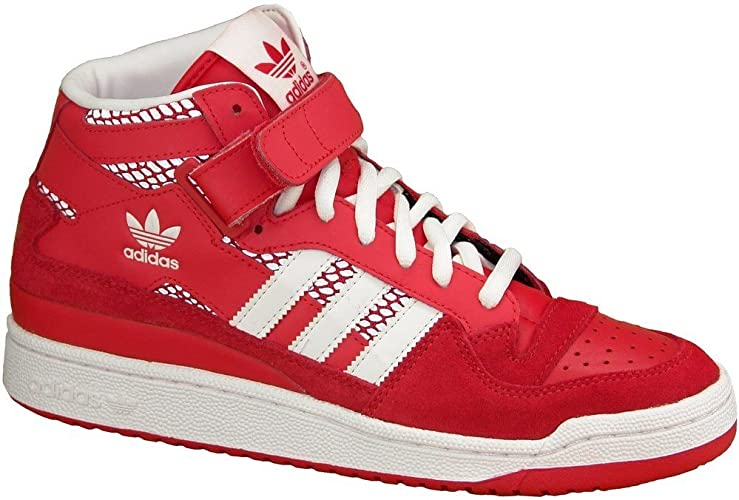 Adidas - Forum Mid RS - Color: Blanco-Rojo - Size: 41.3: Amazon.es ...