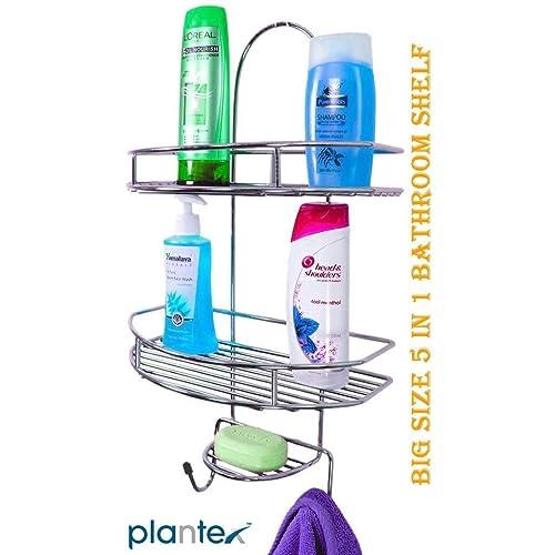 Plantex 5 In 1 Stainless Steel Big Size Multipurpose Shelf/Holder For Home