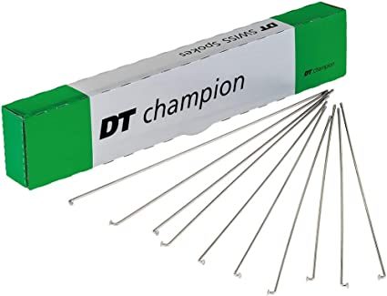 DT Swiss Champion 2.0 242mm Silver Spokes Box of 100