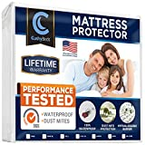 Waterproof Mattress Protector - Premium Mattress Protector by CushyBeds 100% Waterproof, Hypoallergenic, No Crinkling, 10 Year Warranty, Queen Size