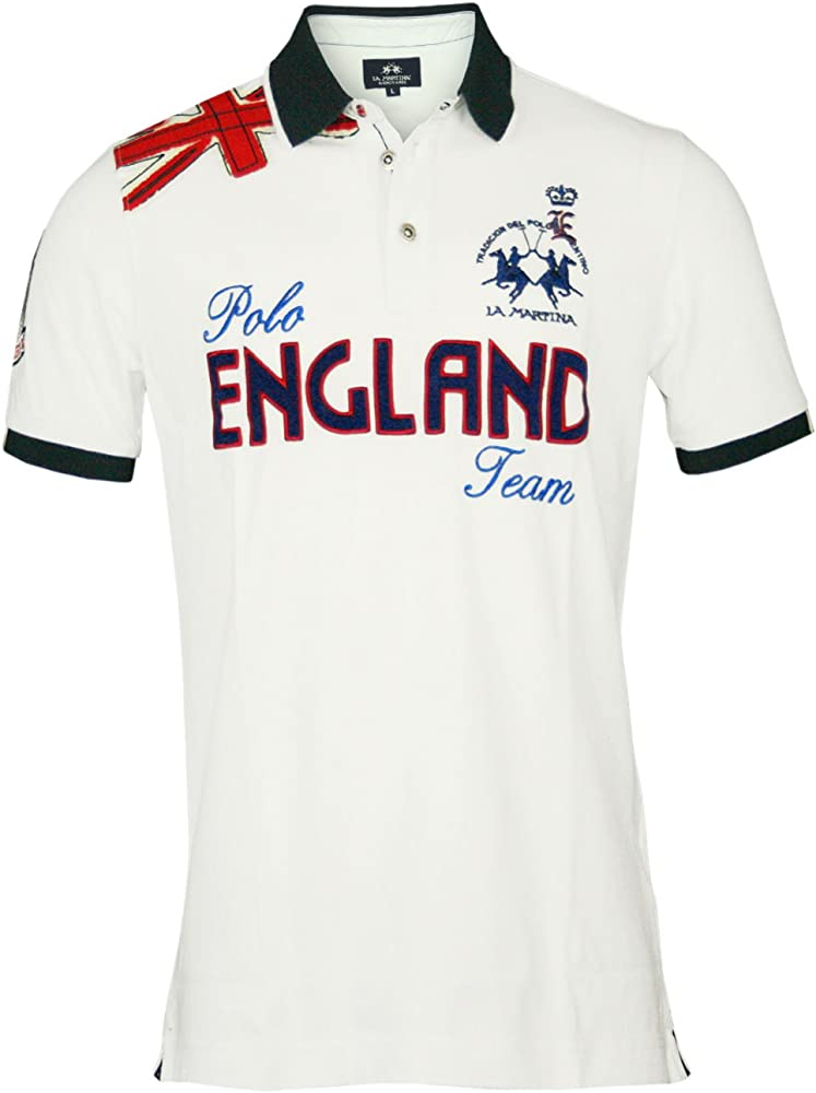 La Martina Hombre Diseñador Polo Shirt Camisetas - ENGLAND -3XL ...