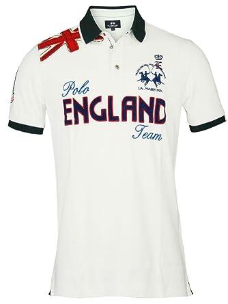 LA MARTINA Hombre Diseñador Polo Shirt Camisetas - ENGLAND -M ...