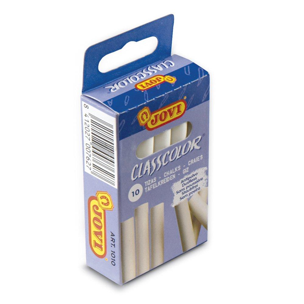 Jovi - Pack caja 10 tizas antipolvo blancas + Caja 10 tizas antipolvo de colores