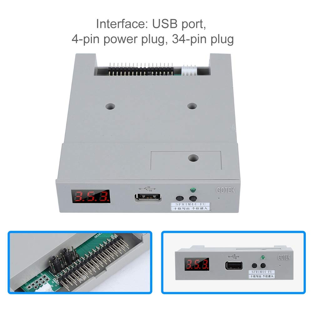 fosa Floppy & Tape Drives SFR1M44-FU USB Floppy Drive Emulator for Embroidery Machine Plug and Play Floppy to USB Converter with 3.5In 1.44MB 34-Pin Floppy Disk Driver Interface by fosa (Image #3)