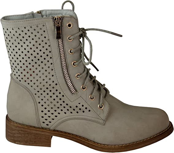 Damenschuhe Stiefeletten Biker Boots Worker Boots Stiefel Booties