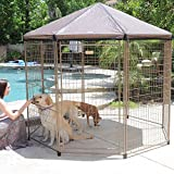 Advantek 7.5-Foot 106 lb. Indoor/outdoor Use Heavy-duty Steel Construction ''Pavilion'' Pet Gazebo
