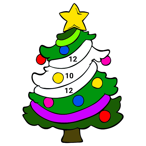 Amazon.com: Christmas Color By Number - Kids Paint + Glitter + Crayon + Oil  Paint Coloring Pages: Appstore For Android