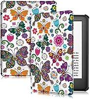 Capa para Kindle 10a geração (aparelho com iluminação embutida) - rígida - sistema de hibernação - Borboletas