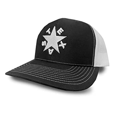 Oil Field Hats Dezavala Flag Adjustable Snapback Hat (Black White ... bd370fc59b8