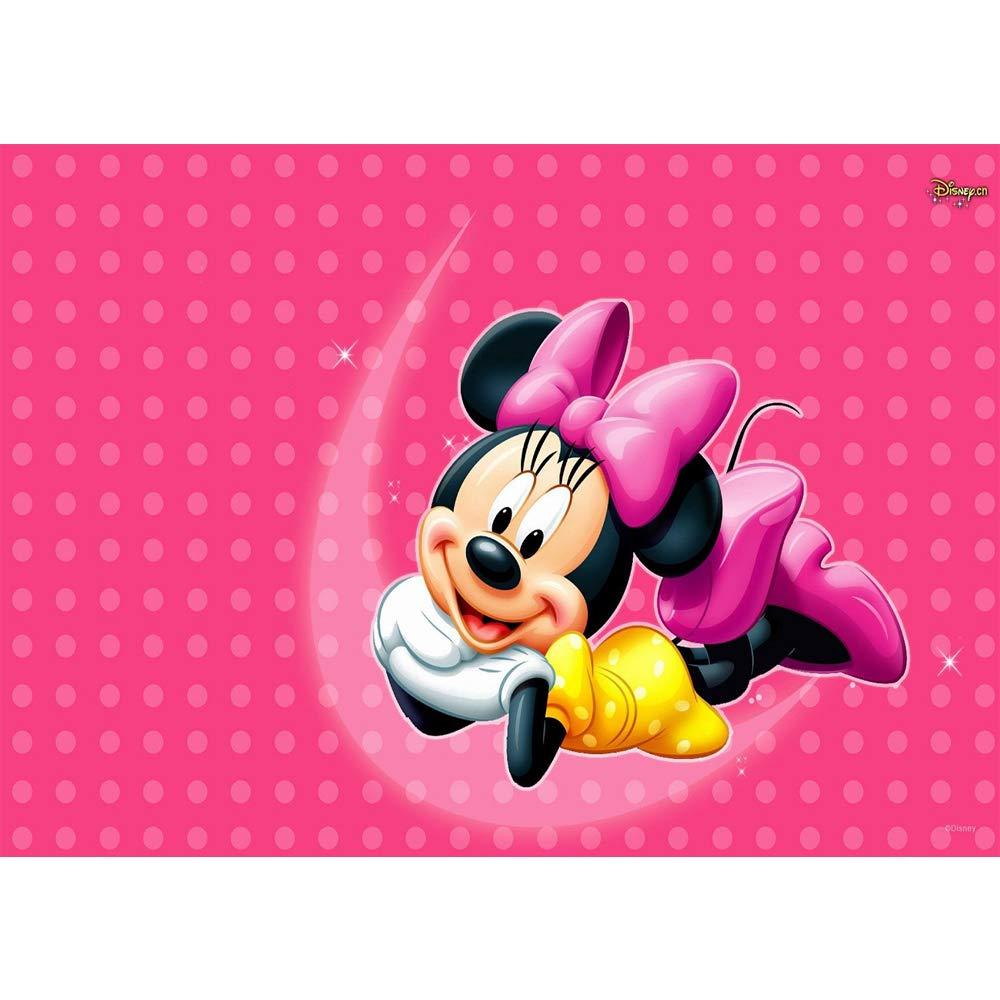 リアル 写真背景 女の子のベビーシャワー 背景 ミニーマウス 水玉