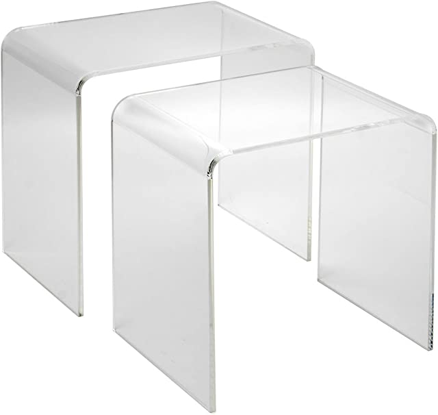 Sheratonn Set Table Basse De 2 Unites Plexi Transparent Amazon Fr Cuisine Maison