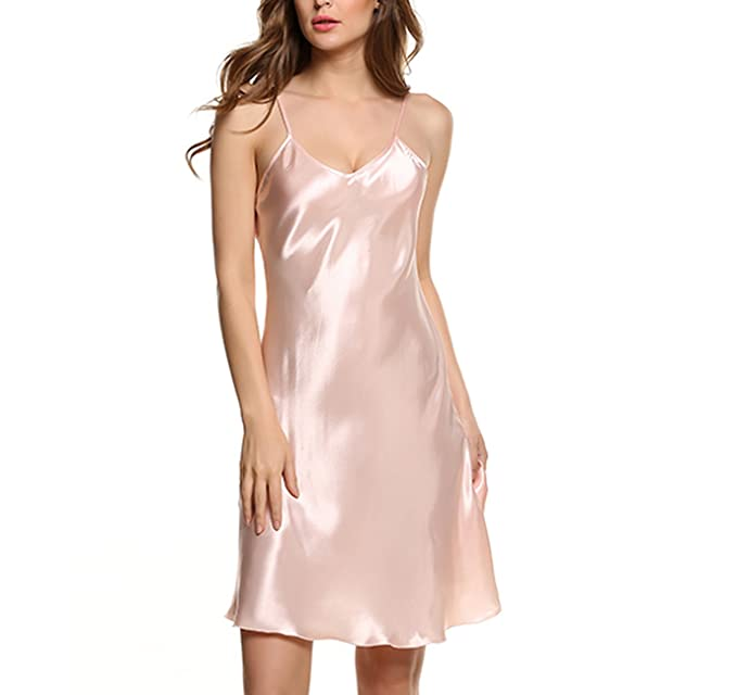 953ed0a6fb2b Image Unavailable. Image not available for. Color  swimstore Women Silk  Sleepwear Sexy Night Dress ...