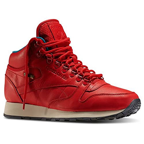 469543520e8d5 Reebok - Zapatillas de Piel para Hombre Rojo Rojo Einheitsgröße ...