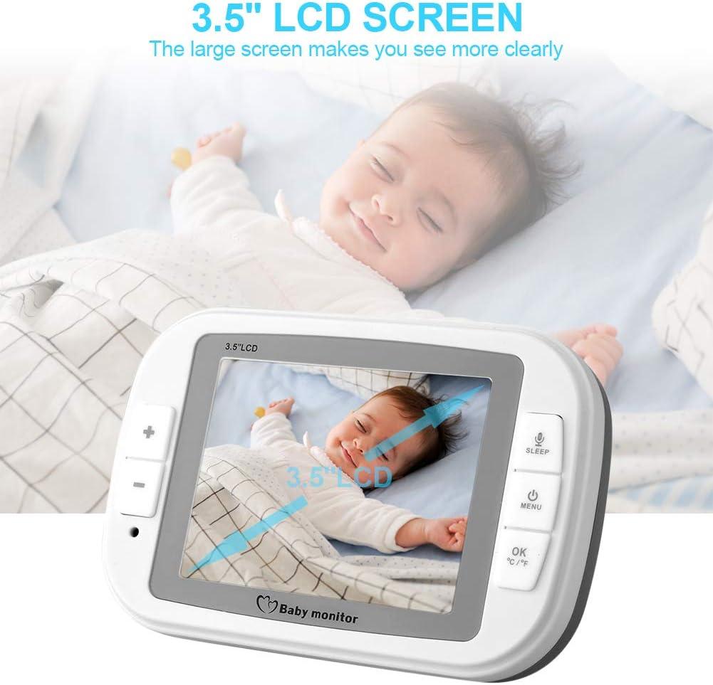Monitoreo de Temperatura Audio Bidireccional Monitor de C/ámara para Beb/és EU Visi/ón Nocturna con Video digital de 3.5 Vigilabeb/és Inalambrico con C/ámara
