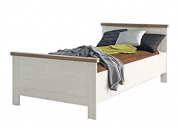 Forte Möbel Einzelbett Duro 100 X 200 Cm Bett Im Dekor Pinie Weiß