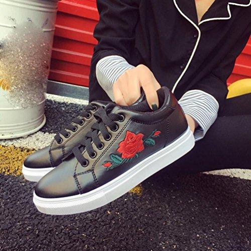 Sneakers Chaussures Fleur En Cours Familizo D'exécution Femmes Mode Broderie De Beige zqxwHd7