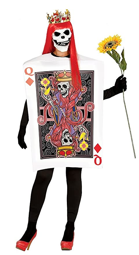 In liquidazione aliexpress all'avanguardia dei tempi Fiestas Guirca Costume da Carta da Poker Regina di Quadri, Colore, 84445