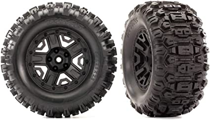THESE TRAXXAS TIRES ARE FOR BEST PERFORMANCE OF YOUR SLASH COMES WITH 4 BLUE ALUMINUM WHEEL NUTS TRAXXAS SLASH WHEELS AND TIRES