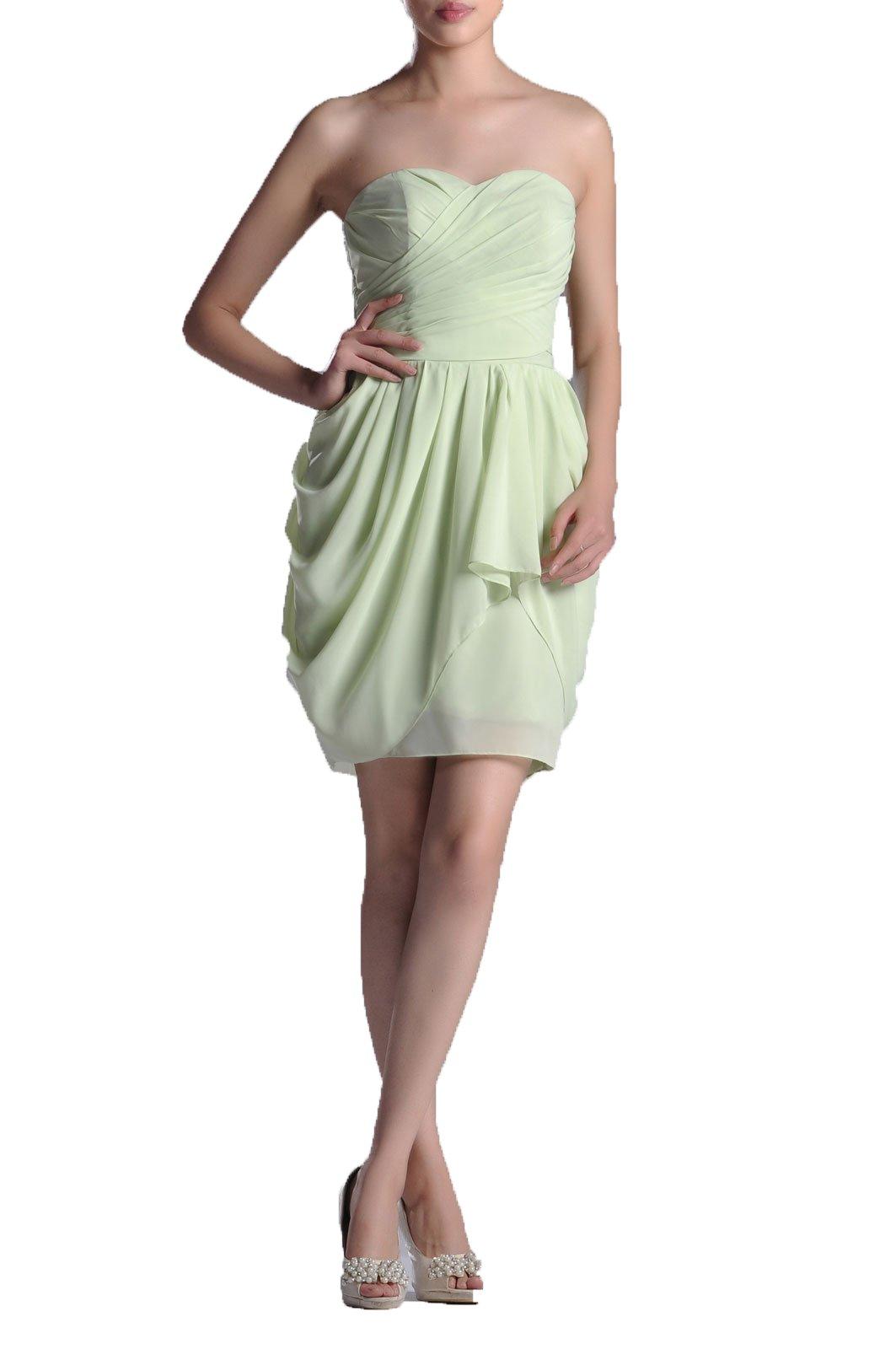 307853dd7a5f Adorona Special Occasion A-line Knee Length Strapless Cocktail Chiffon Bridesmaid  Dress Short, Color Fuschia,Customized