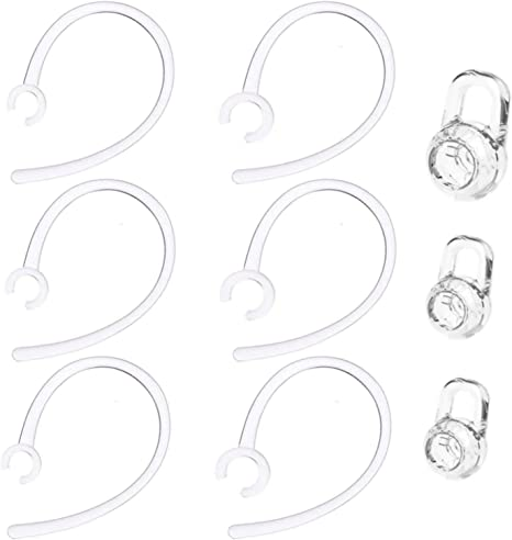 6pcs Medium New Clear Eargels Eartips Earbuds for Plantronics Explorer 500