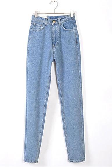 Amazon Com Dormery Nuevo Vintage Negro Novio Jeans Para Mujer Cintura Alta Denim Jeans Vintage Slim Mama Lapiz Jeans Mujer Denim Pantalones Azul Claro Clothing