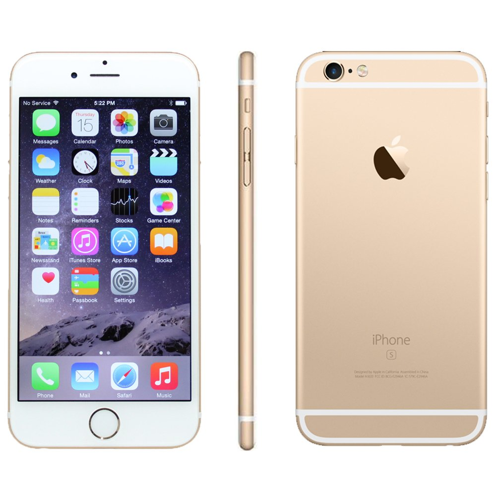 Apple iPhone 6S, GSM Unlocked, 16GB - Gold (Refurbished)