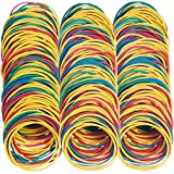 AMUU Rubber Bands 500pcs Size 19#19 Rubber Band Multicolor Small Rubber Bands for Office School Home Elastic Hair Band Colors 50mm