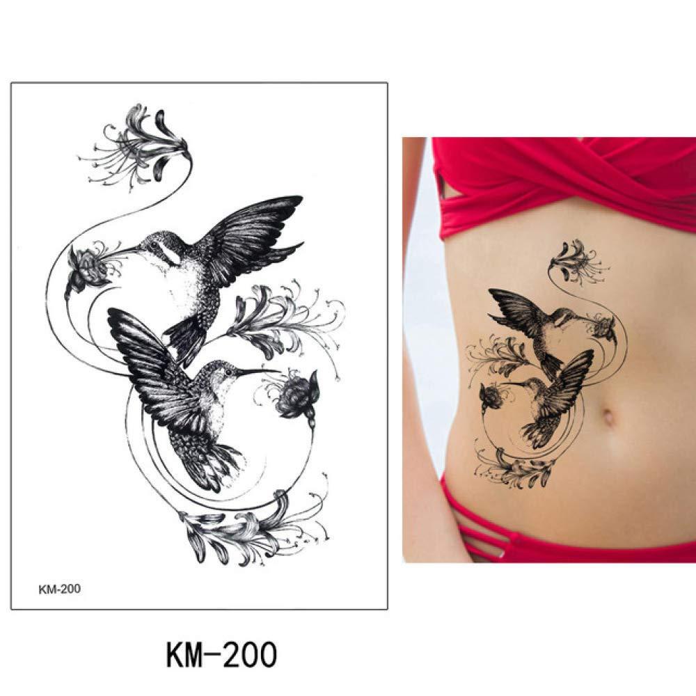 Modeganqing Pegatinas de Tatuaje de 5 Piezas Flor Animal ...