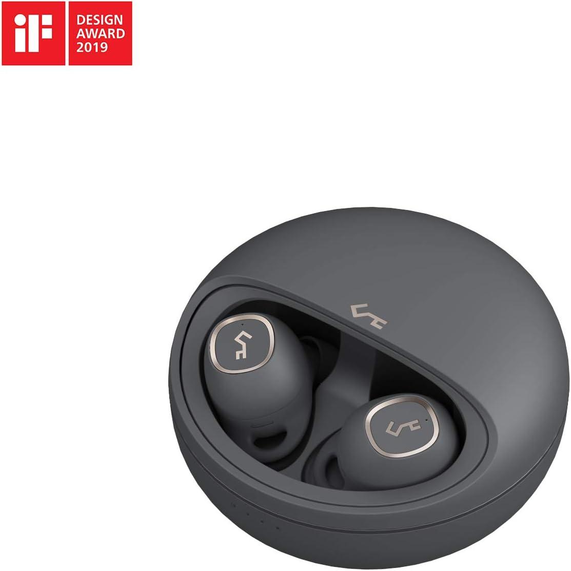 AUKEY Auriculares Bluetooth 5, Auriculares Inalambricos 7 Horas de Reproducción por Carga, Sonido Superior, Control Táctil, Carga Inalámbrica Qi, Impermeabilidad IPX5, Key Series T10