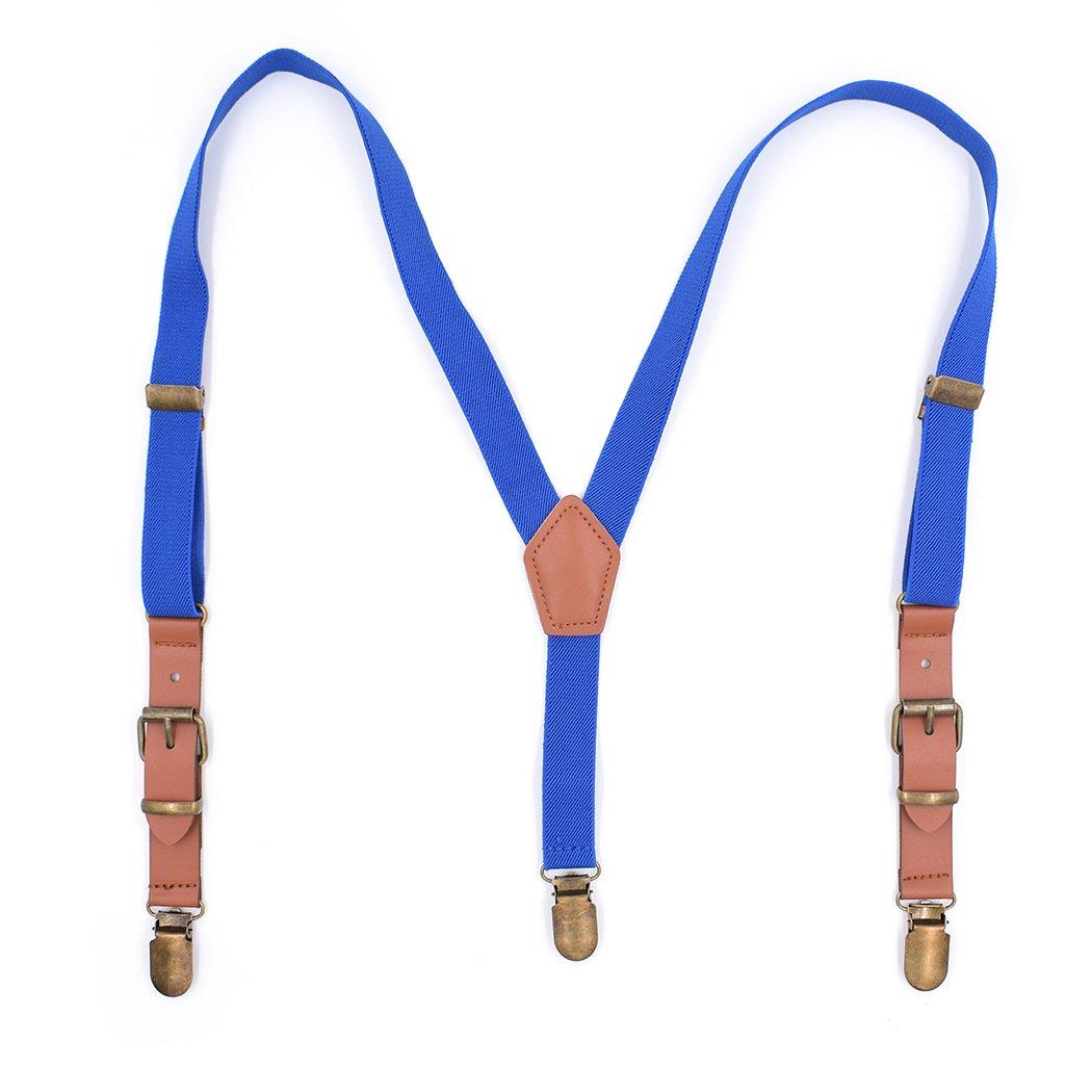 Fascigirl Kids Suspender Fashionable Adjustable Elastic 3 Strong Clips Y Back Suspender Pants Brace