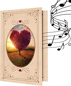 Recordable Greeting Love Card | Record Your own Words, Romantic Music | 120 Seconds Recording | Embellish with Photos, Text Messages | Unique Anniversary Card, All Occasions Card