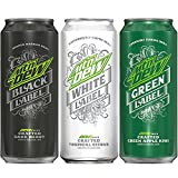 Mountain Dew Label Variety Pack, Black Label, White Label, Green Label, 16 Ounce Cans, 12 Count