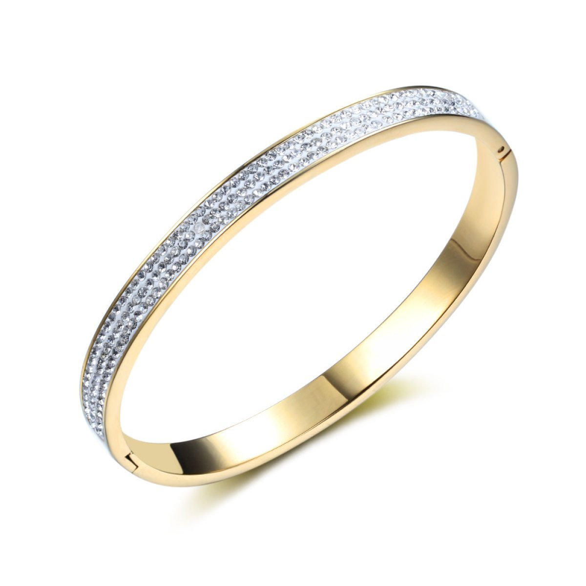 LZHMTitanium Acero Joyería Brazalete De Diamantes De Cerámica Suave