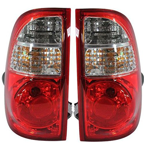 2005-2006 Toyota Tundra Pickup Truck Standard Bed (without double cab or step-side bed) Taillight Taillamp Rear Brake Tail Light Lamp Pair Set Right Passenger AND Left Driver Side (05 06) (Truck Bed Step Tundra compare prices)