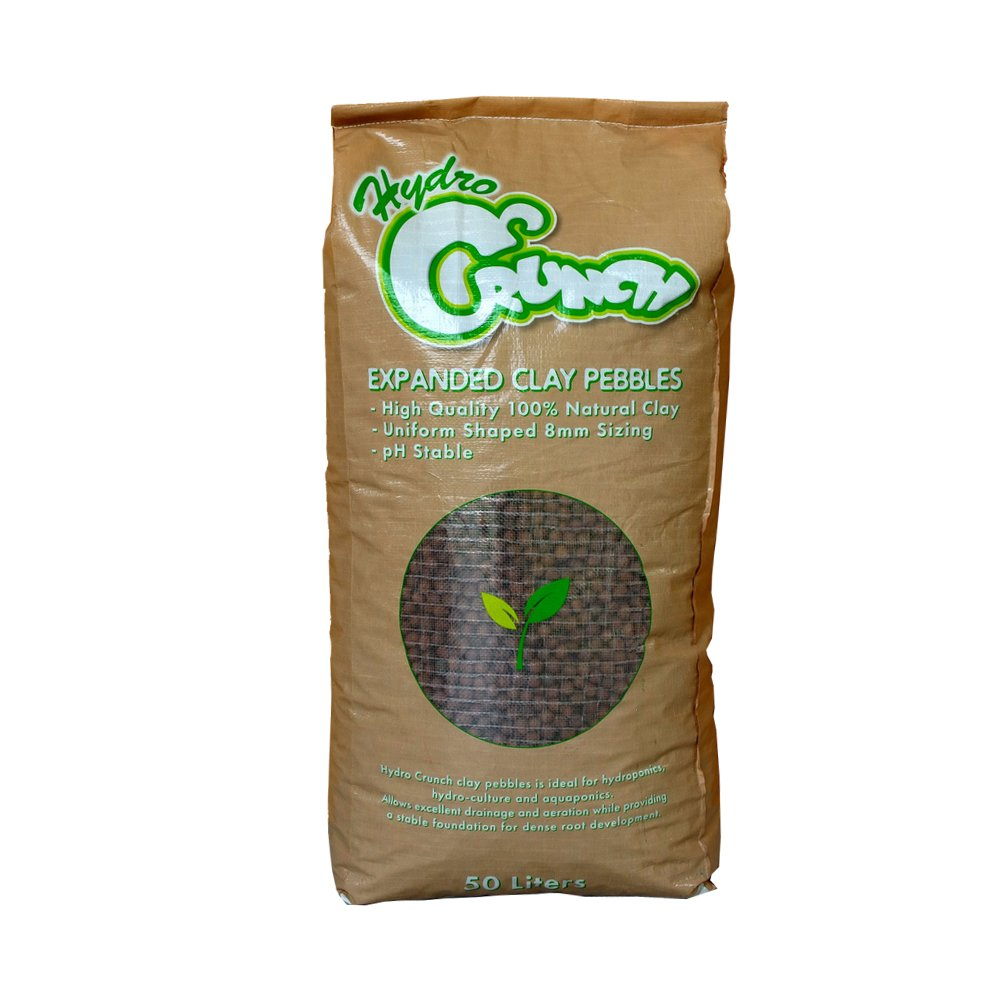 Hydro Crunch Expanded Clay Growing Media Hydroponic 50 L 8 mm Aggregate Pebbles Pellets by Hydro Crunch